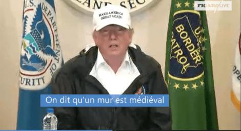 Donald Trump à Mc Allen le 10 Janvier 2019
