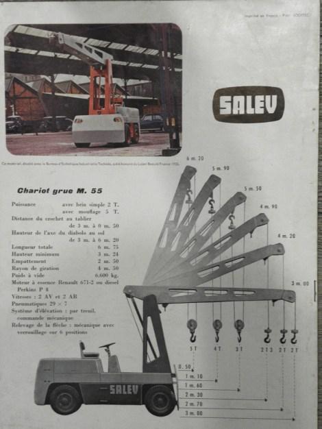 Salev catalogue avec les dimensions