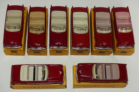 Dinky Toys Chrysler New Yorker nuances d'intérieur