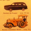 Dinky Toys Peugeot 403 break couleur noire (extrait du catalogue de l'édition française)