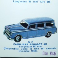 Dinky Toys Peugeot 403 break (extrait du catalogue de l'édition italienne )