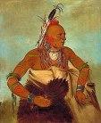 Indien de la tribu des Osages