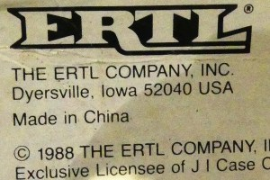 Ertl Iowa...Made in China !