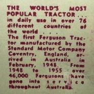 Micro Models (Australie) texte de la boîte expliquant la popularité du tracteur