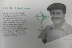 catalogue BP publicitaire avec Colin Chapman de Lotus