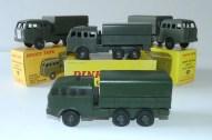 prototype en bois Dinky Toys Berliet T6 et modèles de série