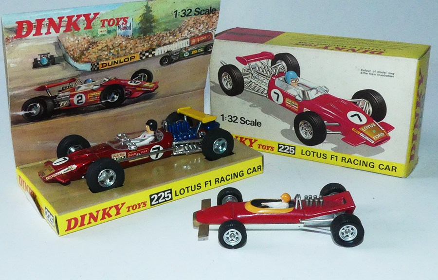 Dinky Toys France prototype Lotus 49E 1968 GP de Monaco et celle de Liverpool (1969)