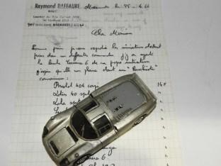 RD Marmande Porsche Carrera 6 et la lettre du 25/04/1966