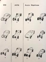 Liste des kits métal DG,APS et Auto Replicas en 1973 distribués par Modelisme