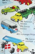 "Tekno catalogue avec le Volkswagen Kombi""Philips"""