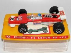 "Politoys Lotus 63 4 roues motrice ""Gold Leaf """