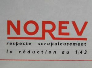 Norev :respecte scrupuleusement la réduction au 1/43...lui !