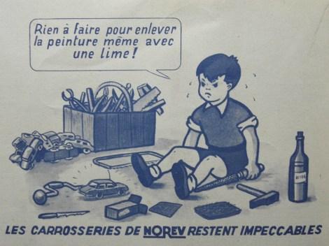 publicité Norev qui aurait pu être inspiré par les tests de monsieur Danglard