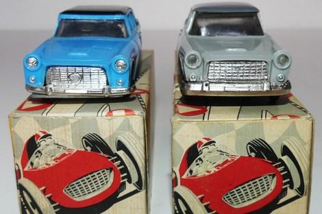 ICIS Lancia Flaminia première série(bleue) et seconde série (grise) : calandre, pare chocs, phares...