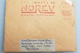 Norev lettre envoyé à monsieur Stambach
