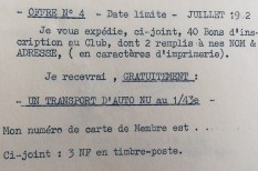 Norev extrait du courrier envoyé au nouveau membre: offre nr 4