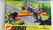 """Corgi Toys catalogue qui était dans le """"tube"""""""