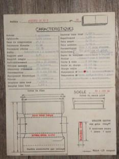 Norev Saviem SC10U fiche technique destinée à l'imprimeur