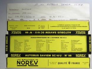 Norev Saviem SC10U socle noir et jaune