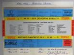 Norev Saviem SC10U socle jaune/rouge/gris