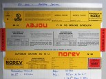 Norev Saviem SC10U socle jaune/gris/rouge