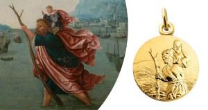 Saint Christophe et sa médaille