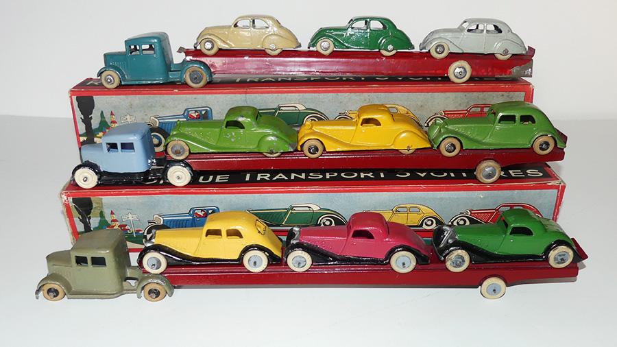 DC Panhard tracteur semi remorque porte autos