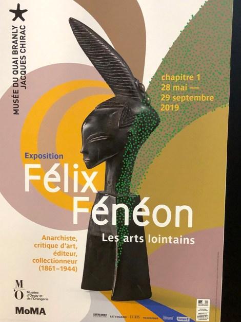affiche de l'exposition d'art lointains de Félix Fénéon