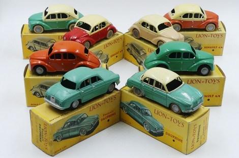 Lion Toys Jefe Renault 4cv et Renault Dauphine
