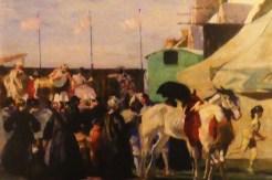 """Lucien Simon """" Parade de cirque"""" 1941"""