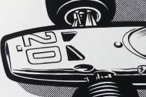Solido dessin original de Jean Blanche (Ferrari 312 F1 1968) détail