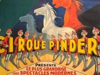 affiche publicitaire du cirque Pinder