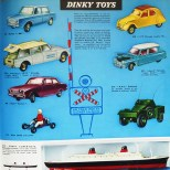 Manuel de ventes 1963 : Dinky Toys AML Panhard et Simca 1000