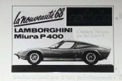 Solido dessin original à l'encre de Chine signé Jean Blanche Lamborghini Miura