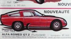 catalogue Solido: Alfa Romeo GTZ Tubolare dessin de Jean Blanche