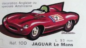 catalogue Solido : Jaguar Type D dessin de Jean Blanche