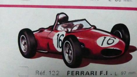 catalogue Solido: Ferrari Ferrari 156 F1 dessin de Jean Blanche