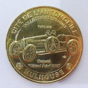 Médaille souvenir du musée Schlumph offerte par mon frère !