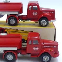 """Tekno Scania 76 et 110 semi citerne""""Dansk Andels Kulforretning"""""""