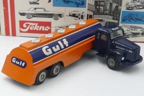 "Tekno Scania 110 semi citerne""Gulf"" bouchons en plastique"
