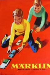Märklin couverture de catalogue avec enfants jouant
