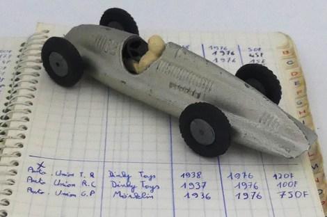 Marklin Auto Union Type D avec le premier répertoire ...1976..750 frs
