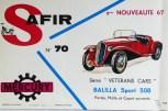 Mercury: affichette éditée par Safir en langue française pour promouvoir la gamme (Fiat Balilla)