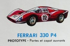 Mercury: affichette éditée par Safir en langue française pour promouvoir la gamme (Ferarri 330P4)