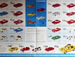 Marklin avec Mercedes 230SL Safari en couverture. La gamme Mercury est majoritaire. On prépare le retour chez Marklin.