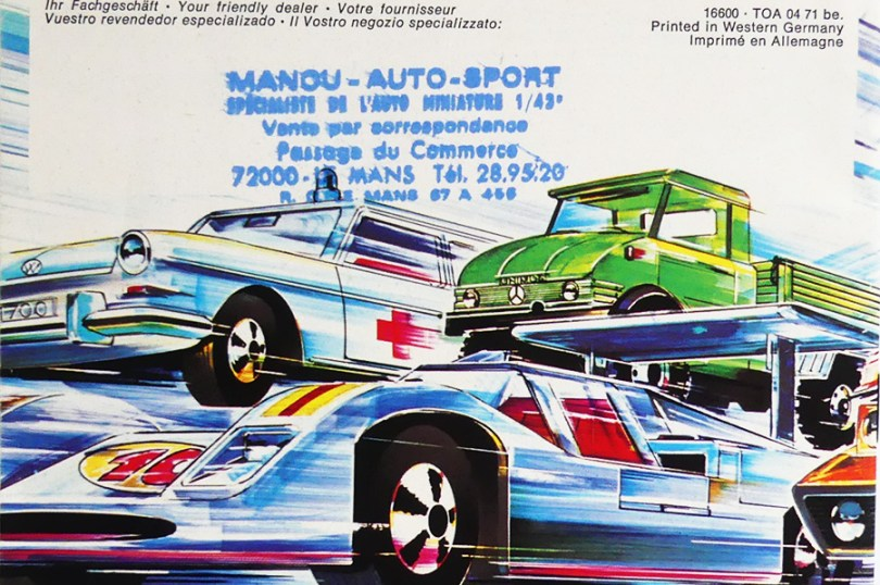 """Marklin catalogue 1971 édition française """"Manou Le Mans"""""""