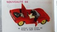 Catalogue Mercury importé en France par Safir en langue française : la Ferrari 206 Dino