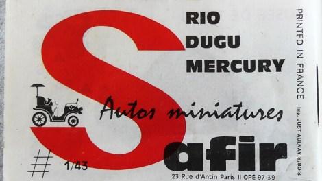 Catalogue Mercury importé en France par Safir en langue française