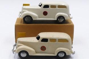 Tekno Packard ambulance variantes de jantes ( en tôle et en zamac peintes de couleur argent)