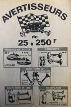 Publicité pour Klaxons dans le journal l'Automobile de 1967